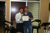 Eugene Hoang graduating from NLP Trainer's Training