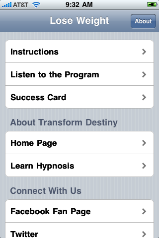 lose weight hypnosis iphone app