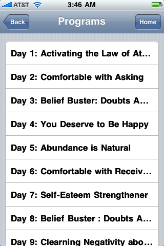 hypnosis law of attraction iphone app